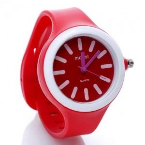 Часы Monol plastic (красные)