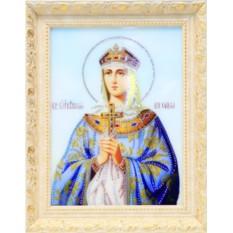 Икона Святая Княгиня Ольга с кристаллами Swarovski