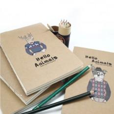 Креативбук из крафтовой бумаги Hello Animals