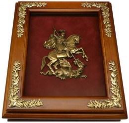 Деревянная ключница Эмблема Герб Москвы