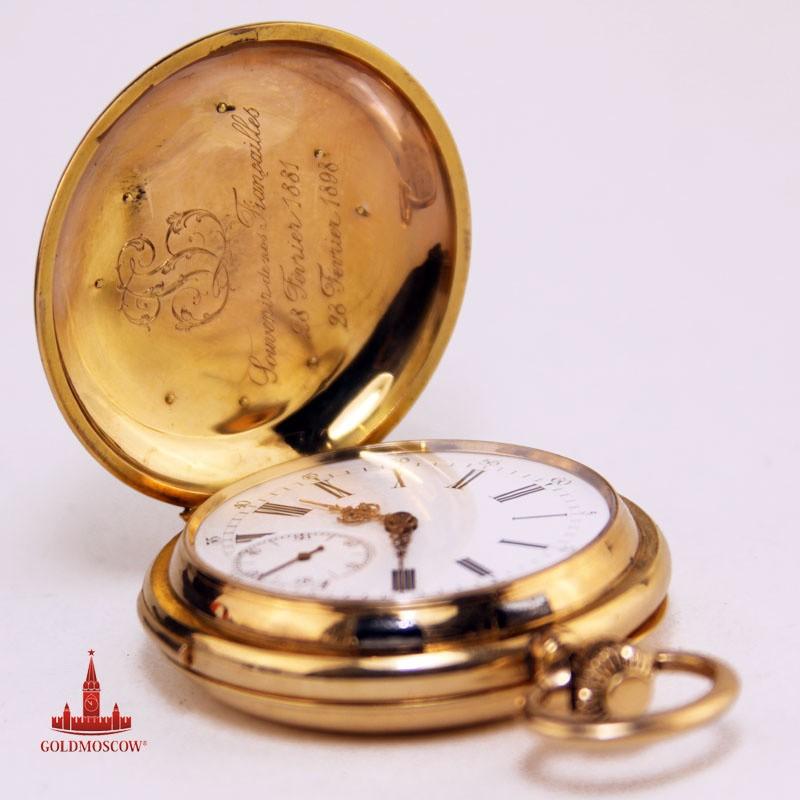 Карманные часы «Золотой минутный репетир»