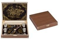 Подарочный набор в шкатулке из тополя и ореха Элита