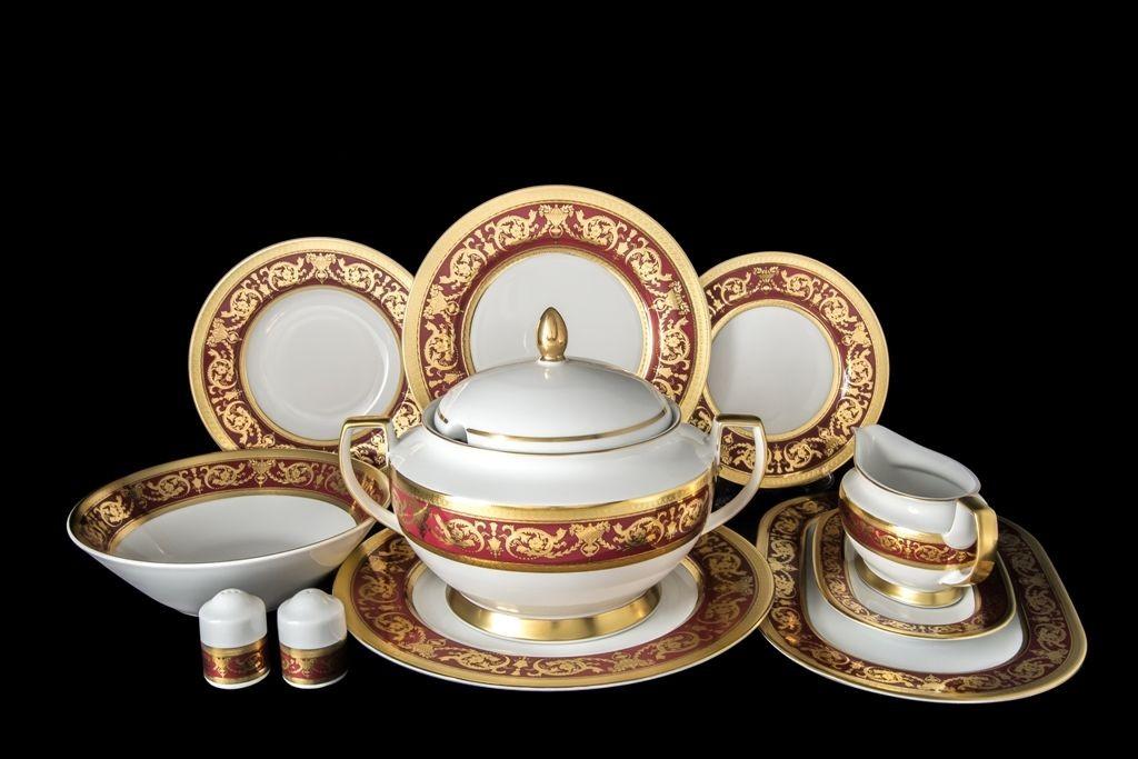 Фарфоровый сервиз из 27 предметов Imperial Bordeaux Gold
