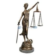 Большая бронзовая скульптура Правосудие