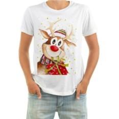 Мужская футболка Олень с подарком
