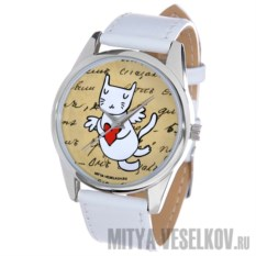 Часы Mitya Veselkov Кошка-амур с сердцем