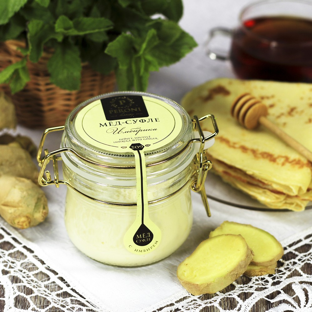 Мёд суфле с имбирикой, 250 мл