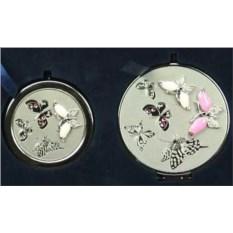 Подарочный набор зеркало и таблетница Бабочки La Geer