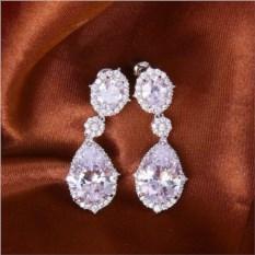 Серьги с цирконием и австрийскими кристаллами Миледи