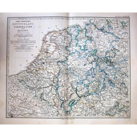 Старинная карта Германии