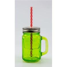 Зеленая баночка для смузи и коктейлей