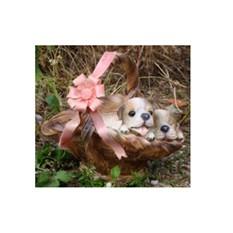 Кашпо «Два щенка в корзине»