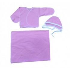 Комплект для малыша: распашонка, чепчик, пеленка