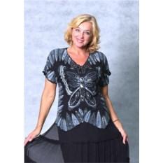 Черно-серая блуза Батерфляй