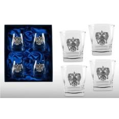 Подарочный набор стаканов для виски Гербовый