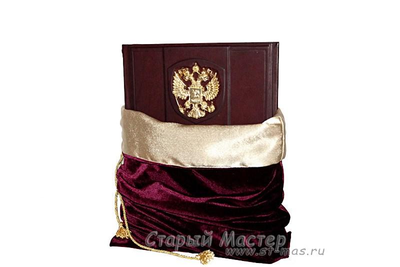 Подарочный мешочек бордо