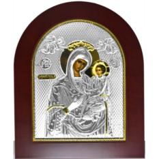 Икона Божьей Матери Скоропослушница в серебряном окладе.