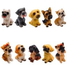 Набор из 10-ти декоративных фигурок Собака
