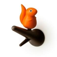 Оранжевый набор из 2-х настенных вешалок Squirrel