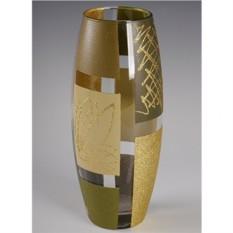 Стеклянная ваза Абстракция