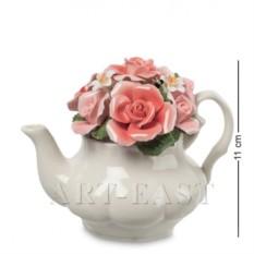 Фарфоровая композиция Чайник с цветами