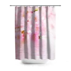 Розовая 3D-штора для ванной Цветочное дерево
