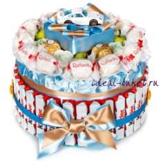 Торт-шкатулка Kinder-Porsche