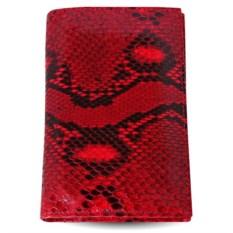 Красная обложка из кожи питона для паспорта и автодокументов