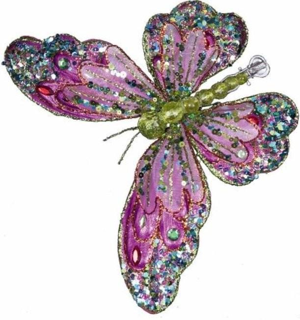 Новогоднее коллекционное елочное украшение Бабочка