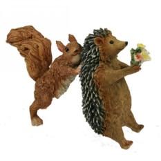 Декоративная фигурка Белка и ёжик
