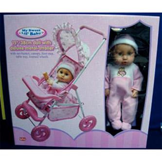 Кукла с прогулочной коляской