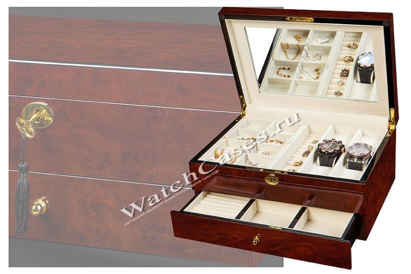 Многоуровневая шкатулка для хранения украшений и часов