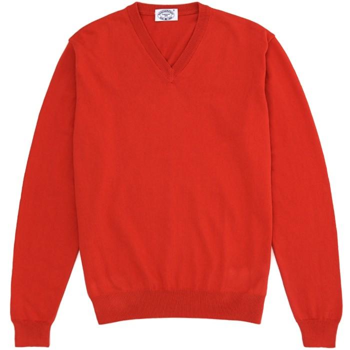 Пуловер из хлопка Gents Stuff by Harridge, коралловый