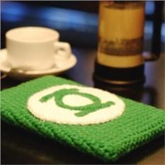 Вязаный чехол на планшет Зеленый фонарь