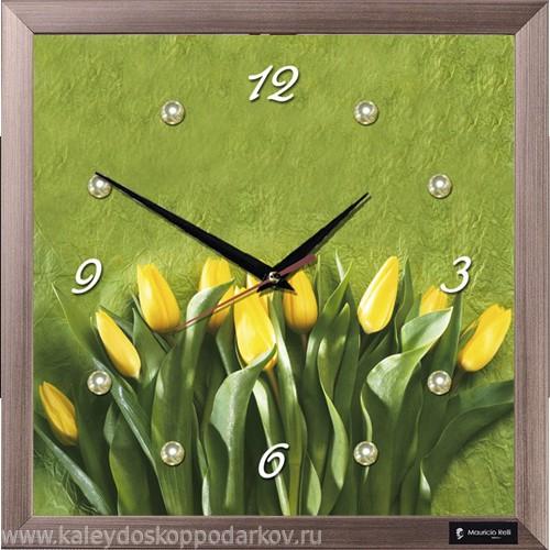 Настенные часы из песка Тюльпаны