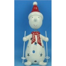 Новогодний сувенир Снеговик на лыжах