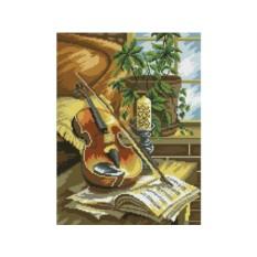 Алмазная вышивка «Натюрморт со скрипкой»
