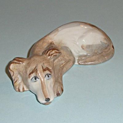 Винтажная статуэтка собака Скучаю