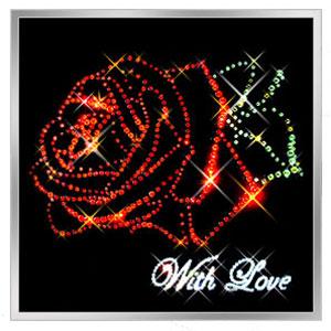Картина Swarovski «Роза»