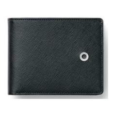 Малый черный бумажник Graf von Faber-Castell Saffiano