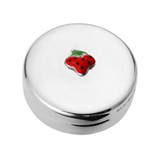 Серебряная детская шкатулка на 1-й зуб (ягодка)