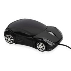 Черная оптическая мышь в форме автомобиля с подсветкой фар
