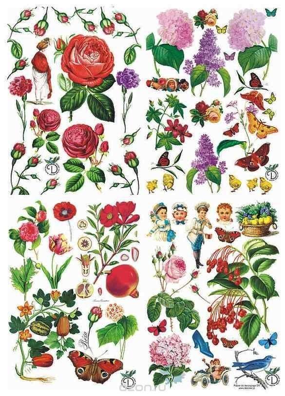 Бумага для декупажа Craft Premier Ботаника-2
