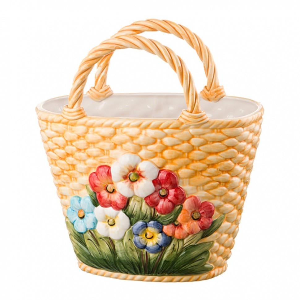 Декоративное Корзина с цветами Ceramiche D'arte (335-006)