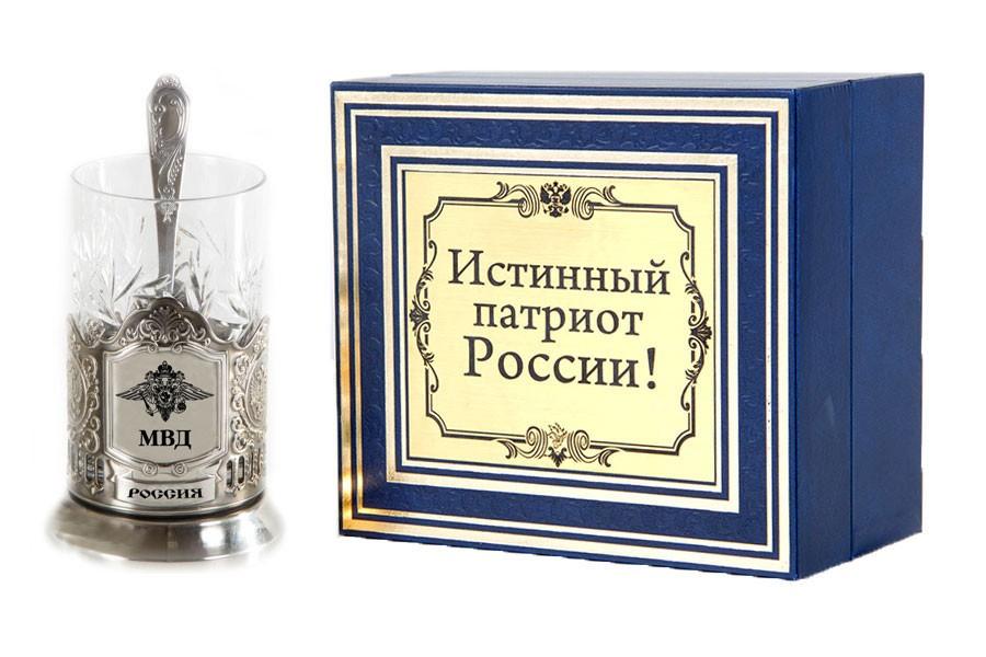 Подстаканник истинный патриот МВД РФ