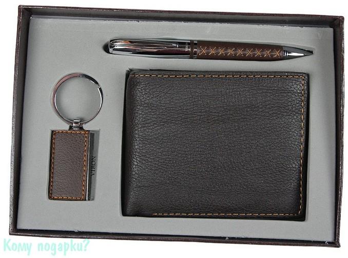 Подарочный набор VIRON: авторучка, брелок, портмоне