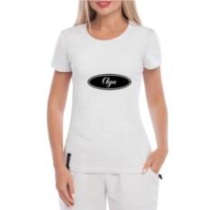 Белая женская футболка Name