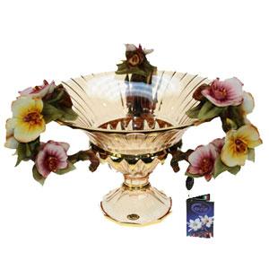 Ваза-чаша декоративная «Орхидеи»