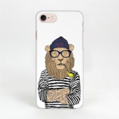 Пластиковый чехол для iPhone 7 Hipsta Animals Лев