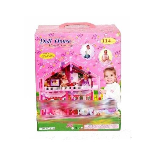 Дом для куклы с мебелью